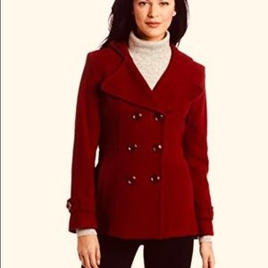 Kenneth Cole red peacoat, sz 8